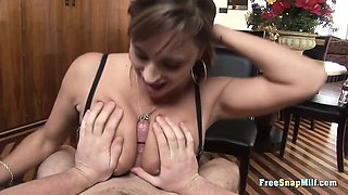 MILF is giving a brutal blowjob in Pod