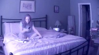 Hidden cam cutie masturbates with her massager
