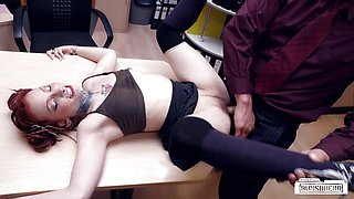 BUMS BUERO - Hot alt German babe fucks at the office
