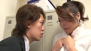 Amazing Japanese slut Miwako Yamamoto in Exotic Office, Secretary JAV clip