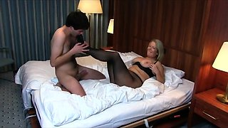 Horny amateur German MILF gets fucked in the hotel room