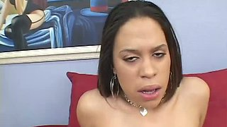 Nympho with big clit Cheyenne provides horny black stud with a BJ