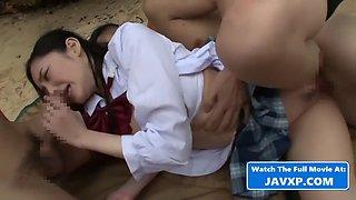 Amazing asian teen gangbang japanese jav