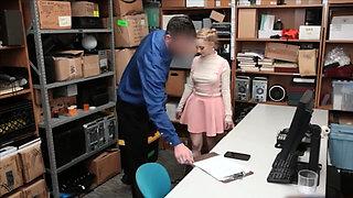 High class blonde shoplifter punish fucked really hard