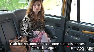 bitch fucks on-the-go in fake taxi