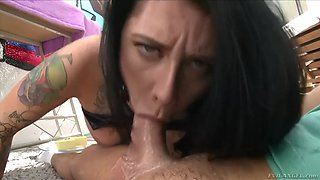 dirty and messy butt fucking session with loose inked hoe jordyn shane