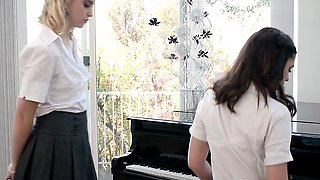 Horny Teens Get Bent Over By Their Music Teacher