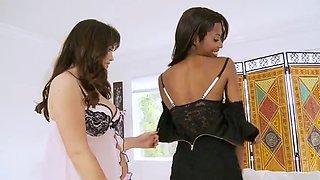 Interracial teen lesbain seduction