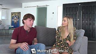 MyVeryFirstTime Blonde step sister Dakota Bleu first time camera fuck