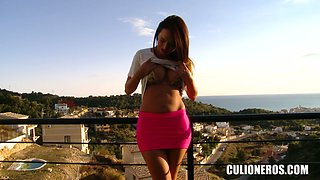 Latina stunner has been frolicking there every day