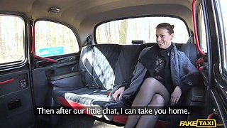 classy milf in lingerie seduces the taxi driver