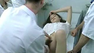 My friend's girlfriend get her hairy pussy examined on gyno checkup