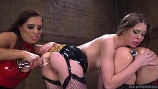 Face sitting Lesbians get Punished by Francesca Le