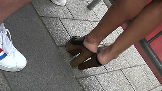 Candid high heels clogs