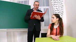 Teacher fucked schoolgirl