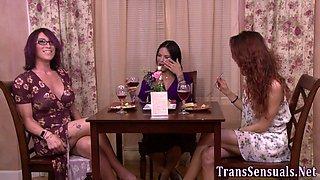 Hot transgender massaged
