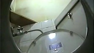 Hidden cam in traditional japanese toilet