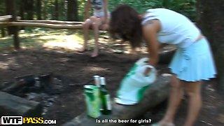 Fuckable Russian hussies take off their sizzling bikini