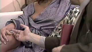 Fantastic horny housewife shows off her perfect breasts