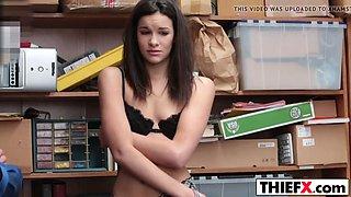 brunette teen eden sin gets punished