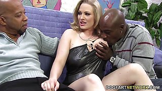 Vicky Vixen Double Dicking With Big Black Cocks
