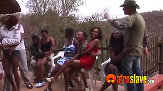 South African swingers in wild orgy party