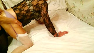 Crossdressing husband is enjoying some wild sex with his naughty wifey