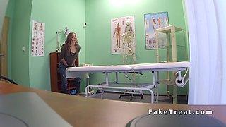 petite patient swallows doctors load