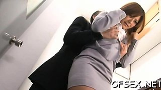 Hawt young secretary provokes a excited stud in the office