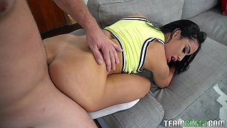 Marvelous doggy style pussy smashing with Victoria June