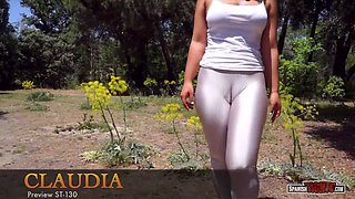 Latina girl with a big deep cameltoe