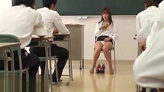 Japanese teacher gangbang with horny students