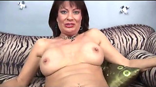 Horny MILF Vanessa Videl sucking cock in POV