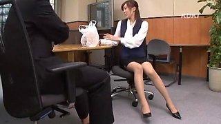 Crazy Japanese model Rin Sakuragi in Horny Secretary JAV scene