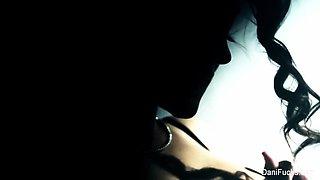 erotic solo sessions with brunette cutie Dani Daniels