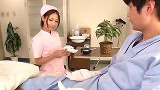 Best Japanese chick Risa Mizuki in Crazy Handjob JAV scene