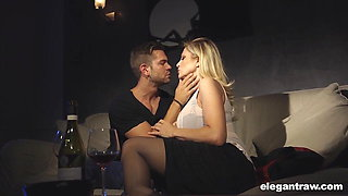 Super hot MILF has a romantic evening with wine and anal
