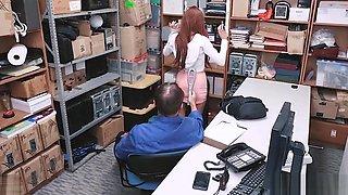 Vanna Bardot performs sloppy blowjob at the LP office as disciplinary action