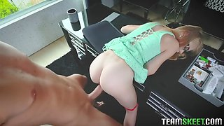 clumsy assistant hannah hays is punish fucked by boss