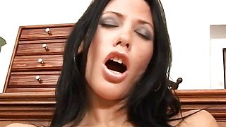 Hot Russian Marty fills her pussy with a long dildo