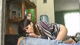 Mexican milf with the plumber