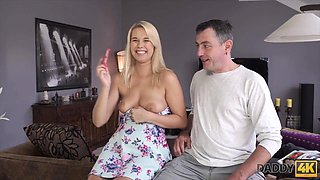 DADDY4K. Young guy missed how his father fucks his gf