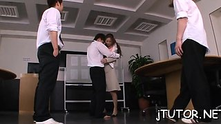 Big titted teacher gets her hairy slit fucked hard