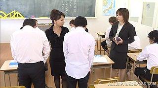Teacher And Helper Milk Cock