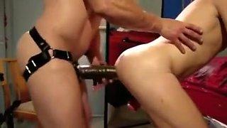 Crazy amateur Strapon, Doggy Style xxx video
