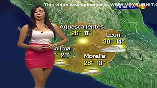 Mexican weather girl and her curvaceous body