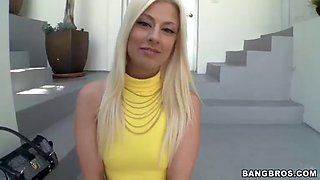 anal pleasure leaves blonde's asshole stretched out