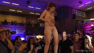 Little Whore Draws A Huge Crowd - PublicDisgrace