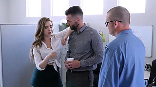 TeamSkeet - Busty and Hairy Office Babe Fucked By Colleague