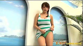 Hot Asian Girl In Green Lingerie